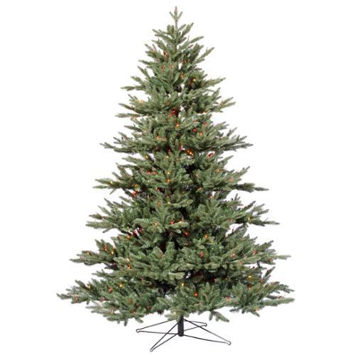 6.5' Pre-Lit Blue Noble Fir Artificial Christmas Tree - Multi-Color Dura-Lights