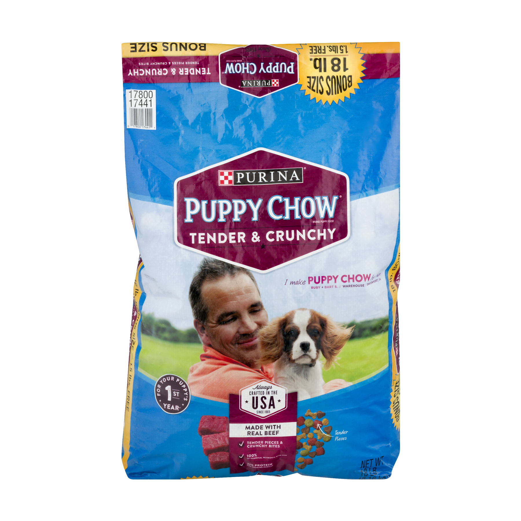 Purina Puppy Chow Tender and Crunchy Puppy Food 18 lb. Bonus Bag