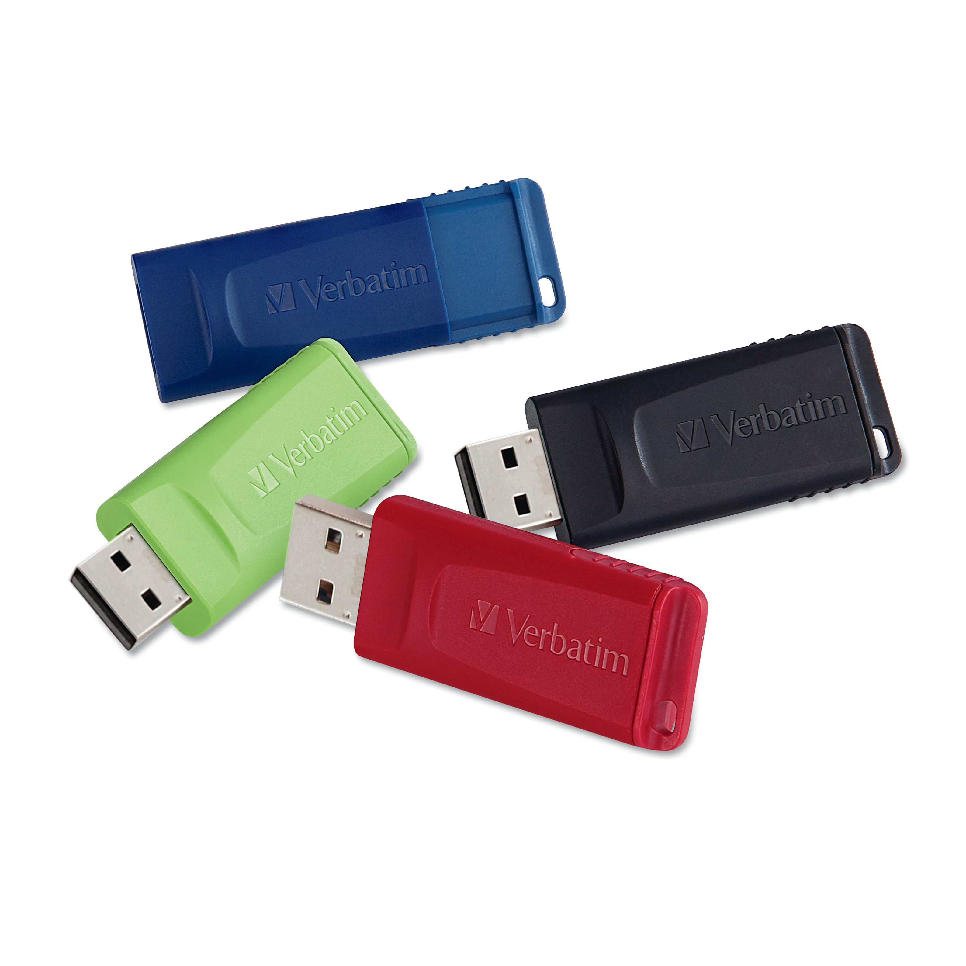 Verbatim Store 'n' Go USB 2.0 Flash Drive, 16GB, 4/Pack -VER99123