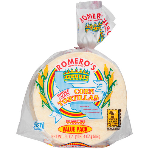 Romero's Whole Grain Corn Tortillas, 20 oz