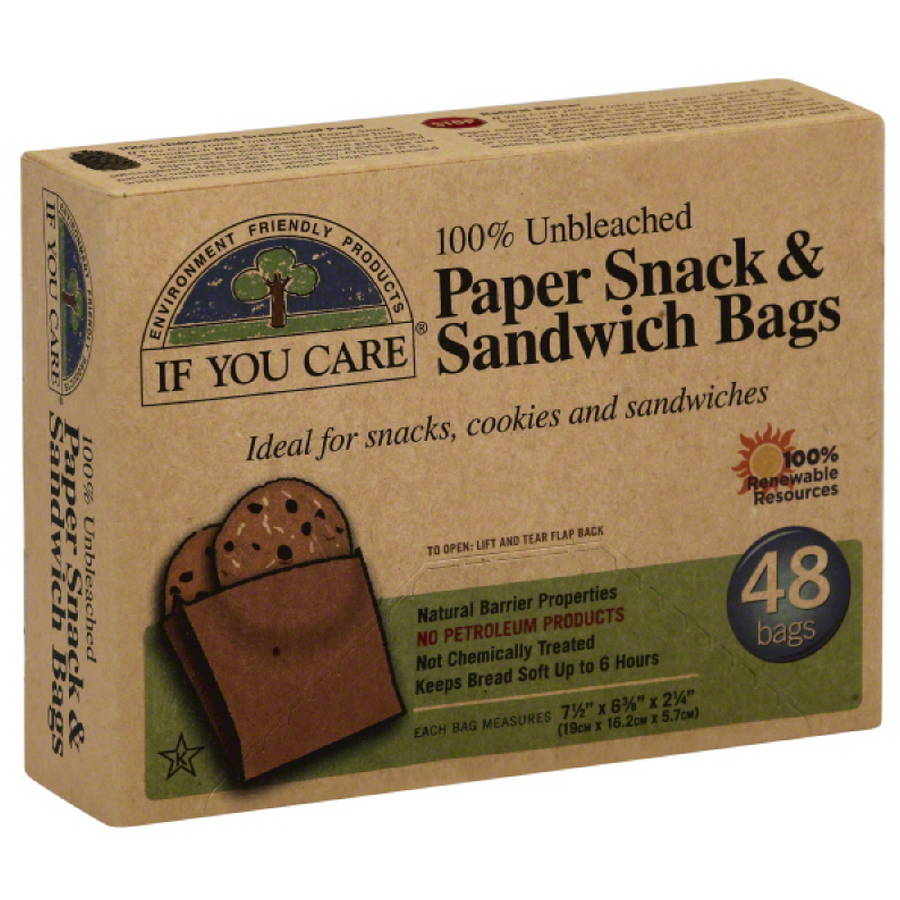 If You Care Paper Snack & Sandwich Bags, 48 count, (Pack of 12)