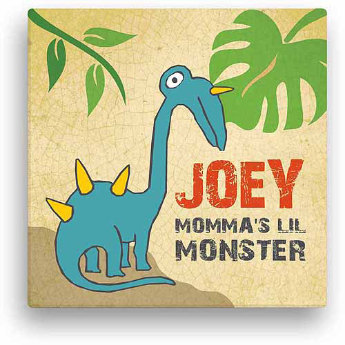 Lil' Monster Personalized Canvas