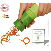 #1 Zoodle Magic Veggie Spiralizer + BONUS PACK - eBook + Cleaning Bush +Citrus Peeler RAW Zucchini Noodles Spiral Slicer