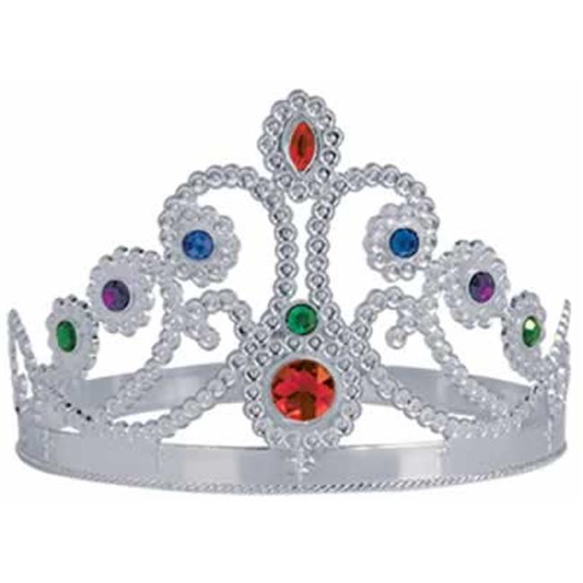 Beistle - 60251-S - Plastic Jeweled Queens Tiara- Pack of 12