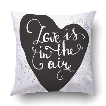 ARTJIA romantic Heart with cute quote for valentines day Inspirational Pillowcase Throw Pillow Cover Case 20x20 inches (Cute Romantic Halloween Quotes)