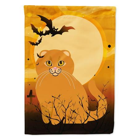 Halloween Scottish Fold Cat Garden Flag