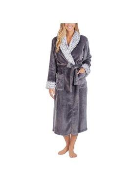 "Carole Hochman Women Luxuriously Soft Plush Wrap Robe 48"" L"