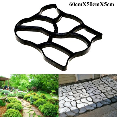 Asewin DIY Path Maker Mold Garden Paving Mould Patio Concrete Stone Lawn Walk Maker Slabs Path Brick ()
