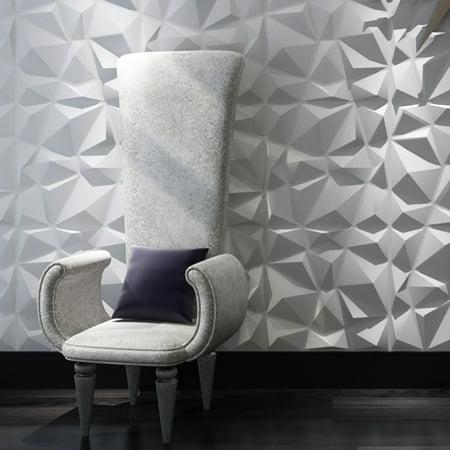Art3d Decorative 3D Wall Panels Textured Art Diamond Design Pack Of 12 Tiles 32 Sq