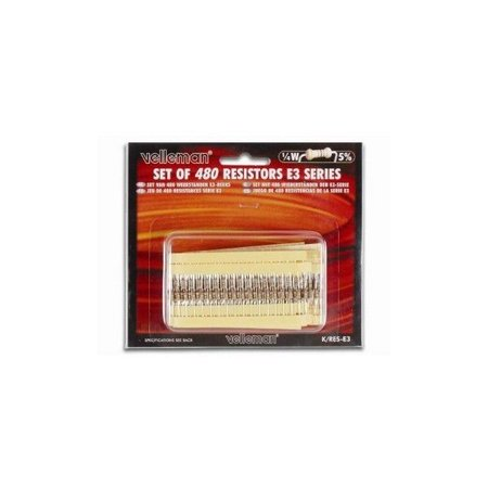 - Velleman Sa 28-12966 480 Piece Misc Resistor Kit