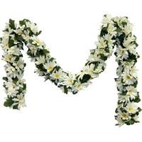 Silk Flower Depot Daisy Chain Garland for Wedding Party Reception Decorations Home Flowers Artificial Arrangement Arch Gazebo Decor Daisy, Set of 2, Cream