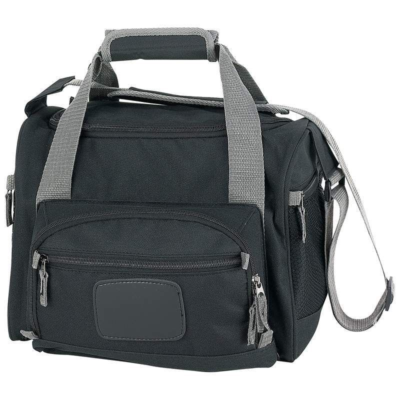 Cooler Bag Lunch Bag Removable Insulated Liner Multiple Pockets Shoulder Strap Black One Size