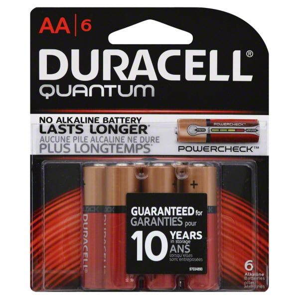 Duracell Quantum Alkaline AA Batteries, 6 Count