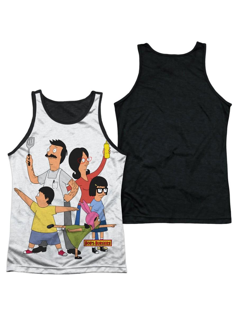 Bobs Burgers Hero Pose Mens Tank Top Shirt with Black Back