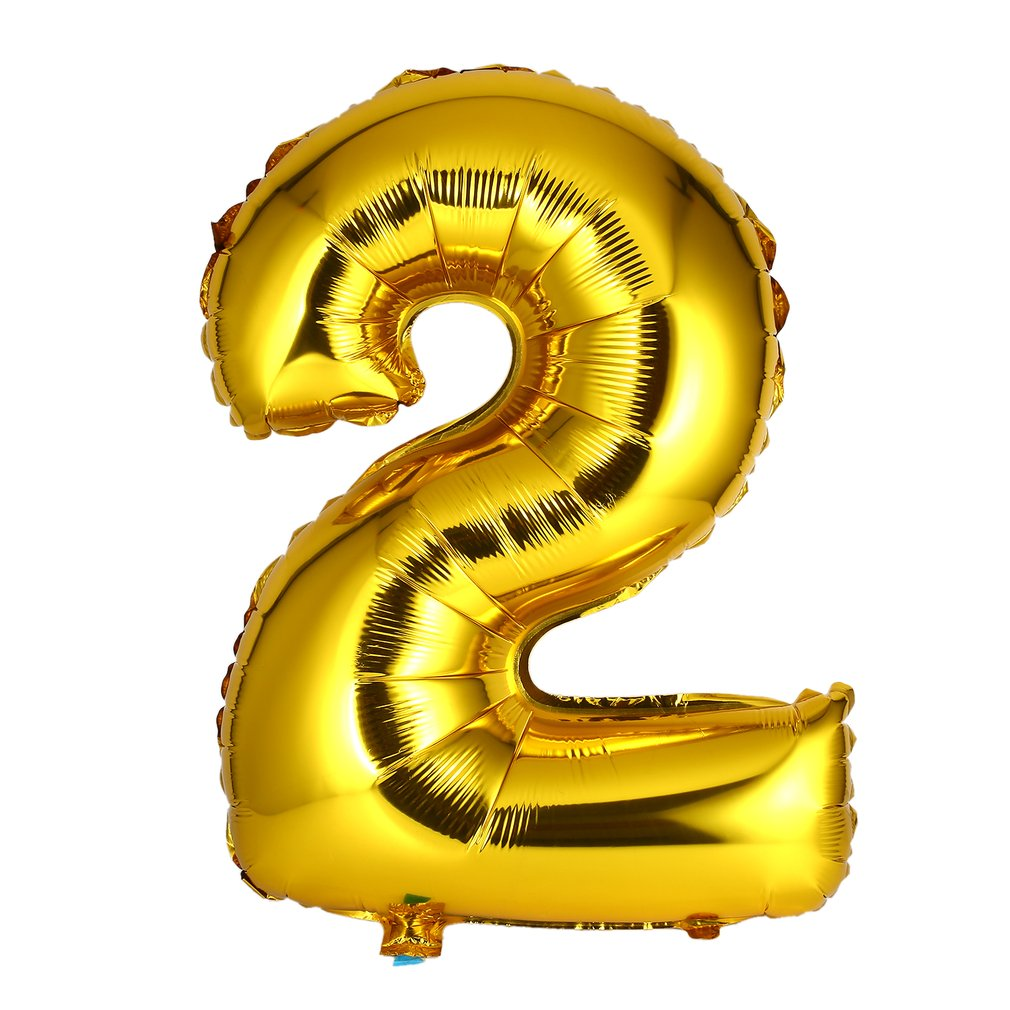 40 inch Number Foil Balloon Digit Air Mylar Ballons Outdoor Happy Birthday Party Wedding Decoration Event Party Supplies