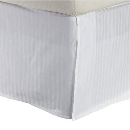 Dan River White Micro Striped (Pinstriped) Bed Skirt/Dust