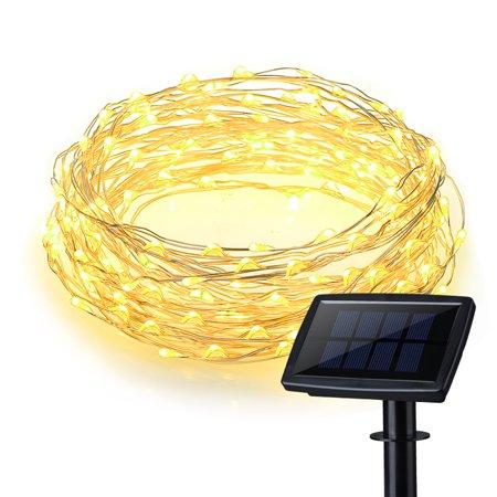 Solar Powered String Light 150 LED 50ft Solar String Lights Outdoor Copper