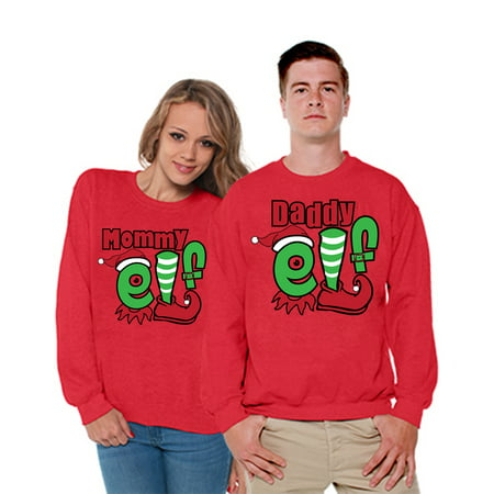 Ugly Christmas Family Pictures.Awkward Styles Christmas Daddy Mommy Elf Sweater Matching Ugly Christmas Sweater Christmas Family Gifts