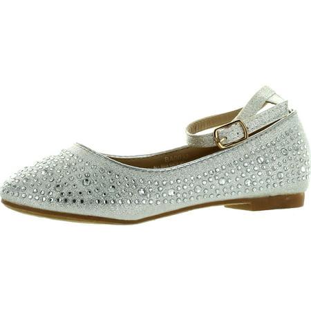 Adorababy Girls BA0032 Dressy Fashion Flats Shoes](Girls Dressy Shoes)
