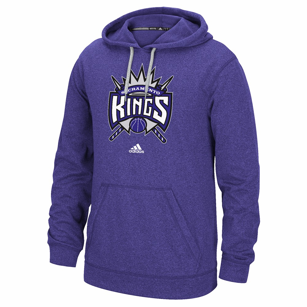 "Sacramento Kings NBA Adidas Purple Ultimate Hood Climawarm Performance ""Primary Logo"" Pullover Hoodie For Men by Adidas"