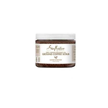 SheaMoisture 100% Virgin Coconut Oil Ground Coffee Scrub, 7.5 oz