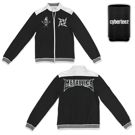 Metallica T-Shirt Logo Men's Embroidered Track Jacket + Coolie -