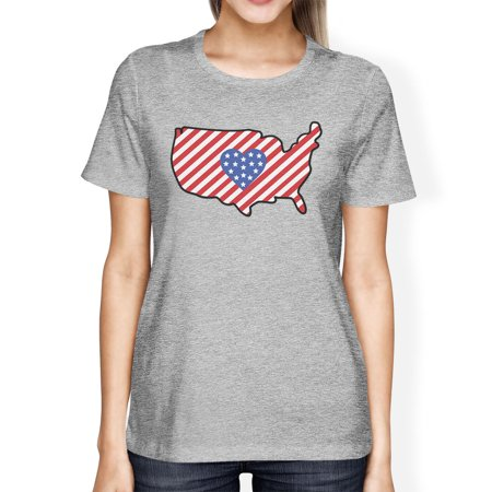 Cute Usa Map.365 Printing Usa Map American Flag Womens Grey Cute 4th Of July