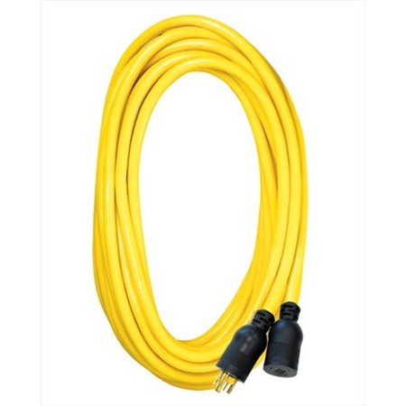 Voltec 05-00127 50 ft. SJTW Yellow - Locking Extension Cord, Case Of 4