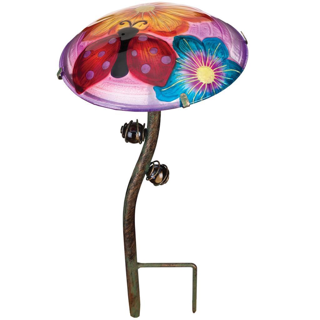 Regal Glow Mushroom Stake - Ladybug