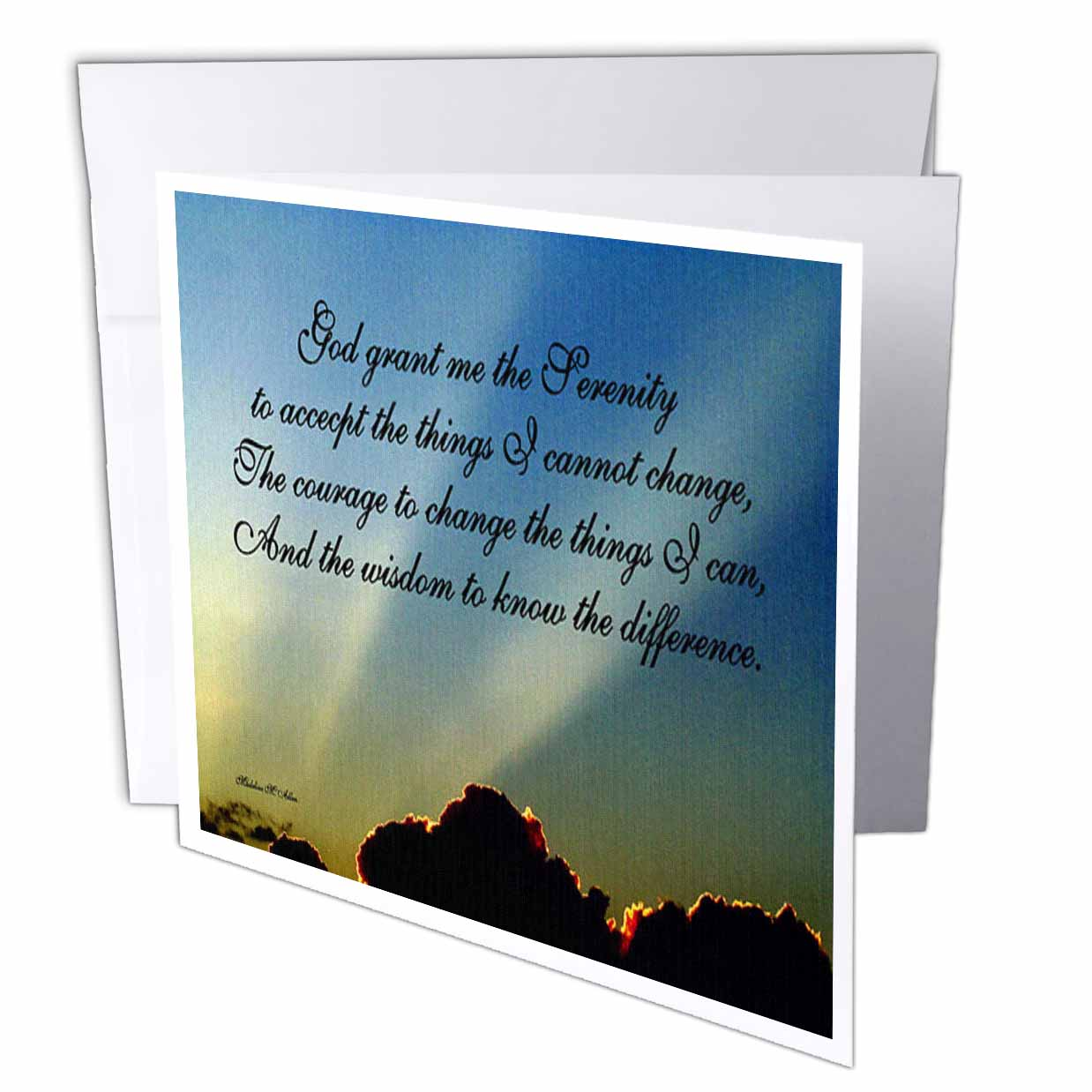 3dRose The Serenity Prayer, Greeting Cards, 6 x 6 inches, set of 12