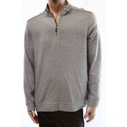 Tasso Elba NEW Gray Heather Mens Size Medium M 1/2 Zip Cotton Sweater