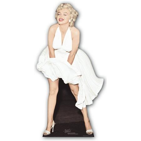 Star Cutouts Marilyn Monroe White Dress Cardboard Cutout Life Size Standup