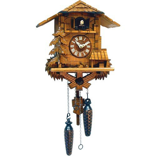 Chalet and Pine Tree Cuckoo Clock by Black Forest