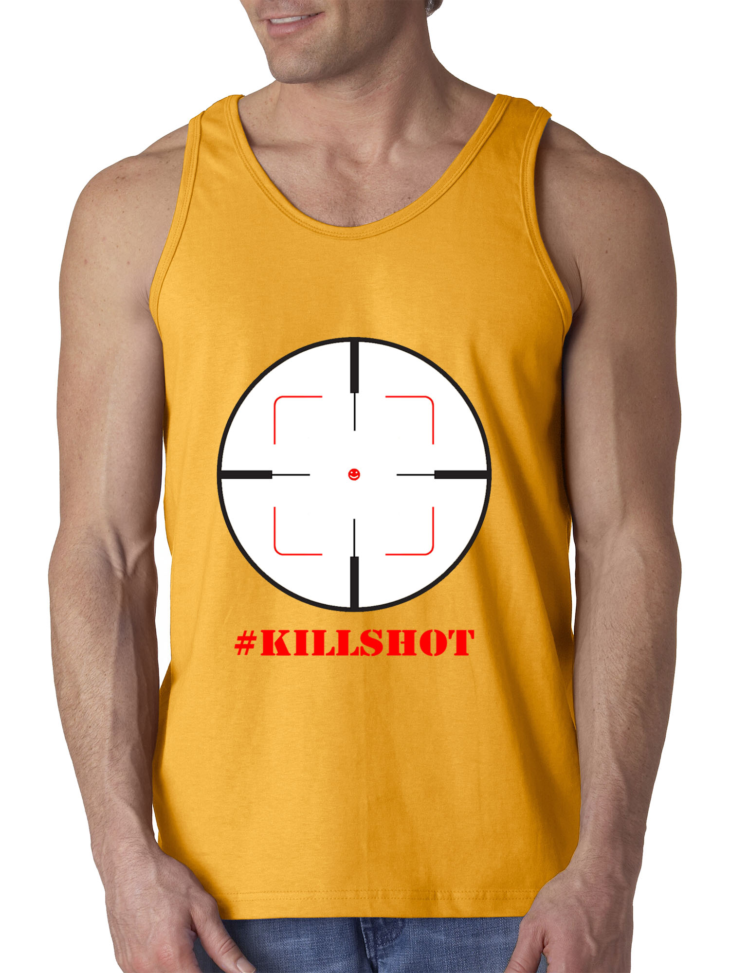 New Way 960 - Men's Tank-Top Killshot Crosshair Eminem MGK Diss Large Royal Blue