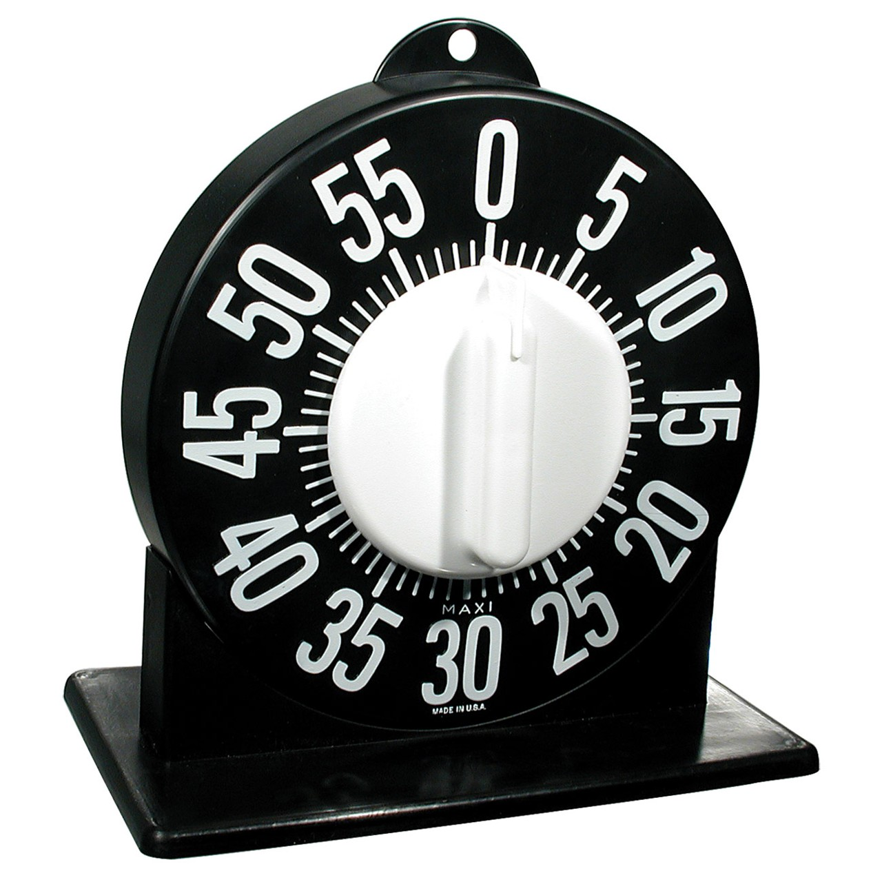Tactile Long Ring Low Vision Timer With Stand - Black Dial