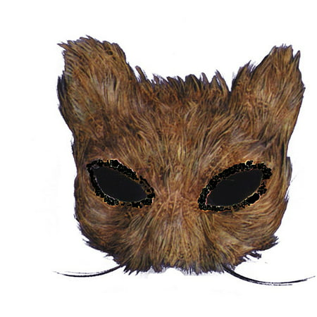 Cat Feather Natural (Natural Feather Cat Mask Halloween)