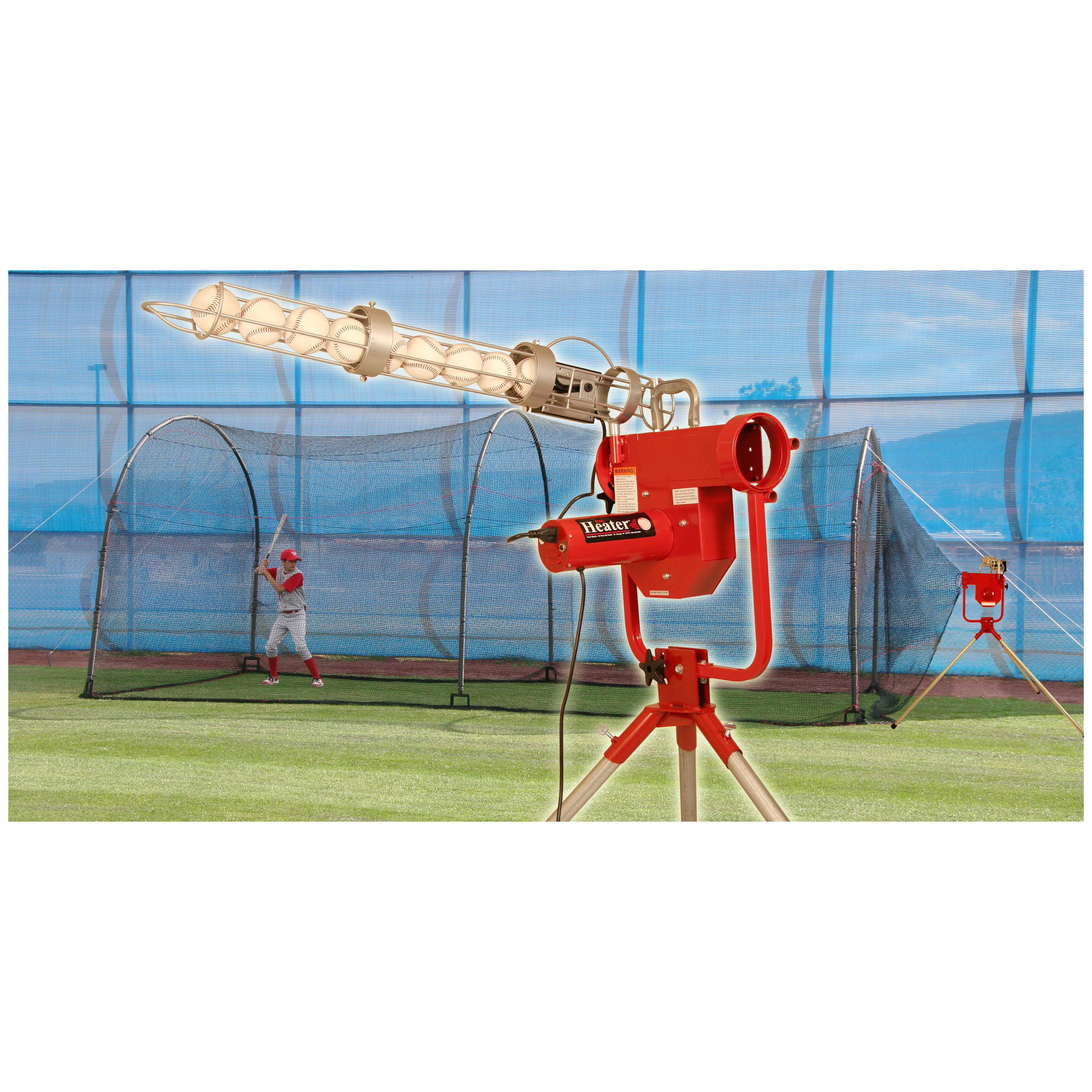 Heater Sports 24 ft. Pro Pitching Machine ; Xtender Batti...