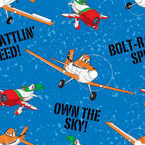 Springs Creative Disney Planes Dusty and Skip Own The Sky Fabric by the Yard