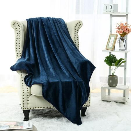 "Plush Flannel Fleece Blanket Warm Throw Blanket Travel 50""x60"""