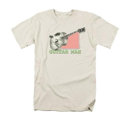 ELVIS/GUITAR MAN - S/S ADULT 18/1 - CREAM - - Guitar Combo Amp Cream