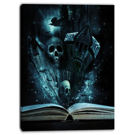 Design Art Halloween Stories Book Contemporary Graphic Art on Wrapped Canvas