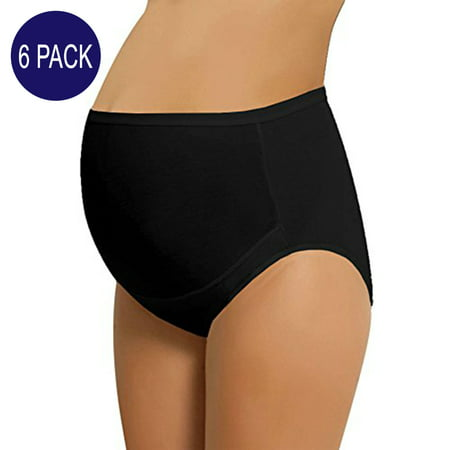 b3ee2f7220ab8 NBB Lingerie - NBB 6 Pack Women's Adjustable Cotton Maternity Underwear  High Cut Brief Panties (X-Large - 6 Pack, Black) - Walmart.com