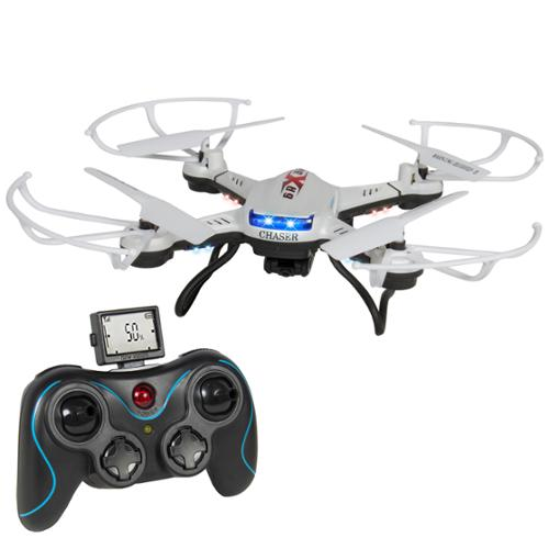 RC 6 Axis Quadcopter Flying Drone Toy Gyro HD Camera Remote Control LED Lights