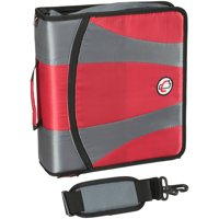 Case it dual d ring zip binder, 2 sets of 2 inch rings, red