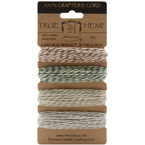 Metallic Hemp Cord 20lb-Classic 120', Pk 3, Hemptique