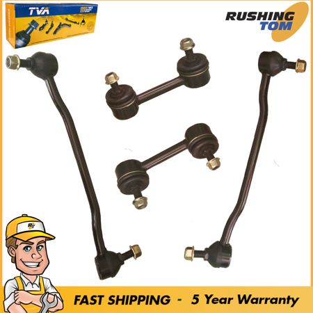 2 Front & 2 Rear Sway Bar Link Suspension Kit For Nissan Altima Maxima 2002-2006