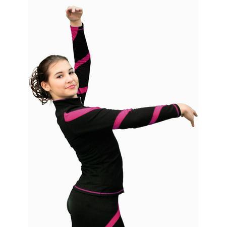 ChloeNoel Fuchsia Spiral Jacket w/ Fuchsia Zipper