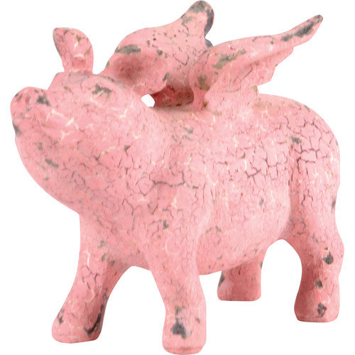 Wilco Home Winged Pig Resin Figurine
