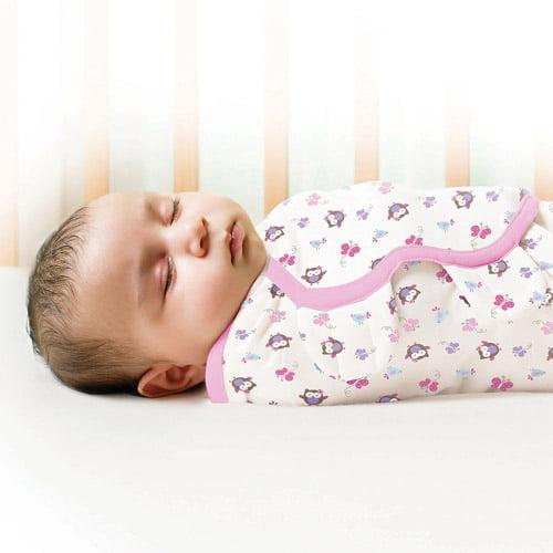 Garanimals SwaddleMe Infant Wrap, 2-Pack, Baby Owls, Size Small/Medium