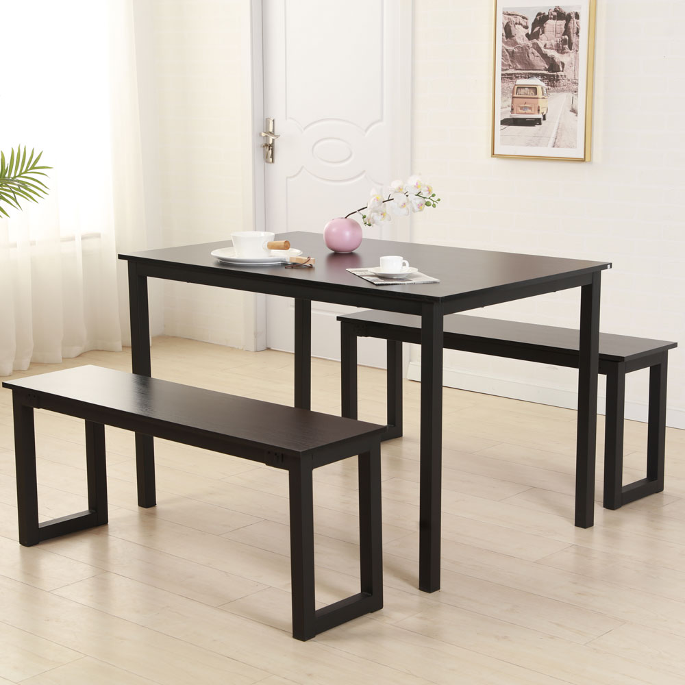 Hommoo Dining Table Set 3 Piece Kitchen Dining Room Table